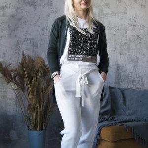 Трикотажные белые  брюки