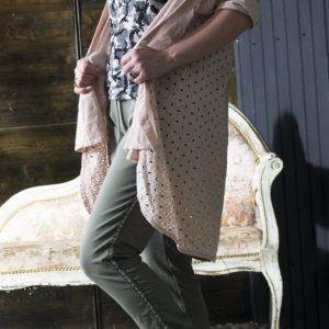 Трикотажные брюки с ломпасом