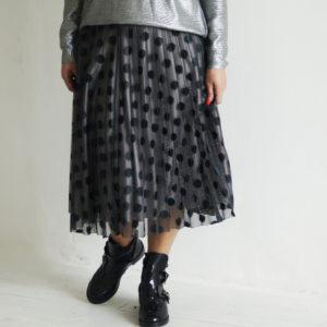 Плиссированная юбка в горох  Rinascimento