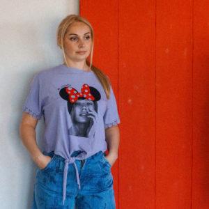 летняя футболка с микки