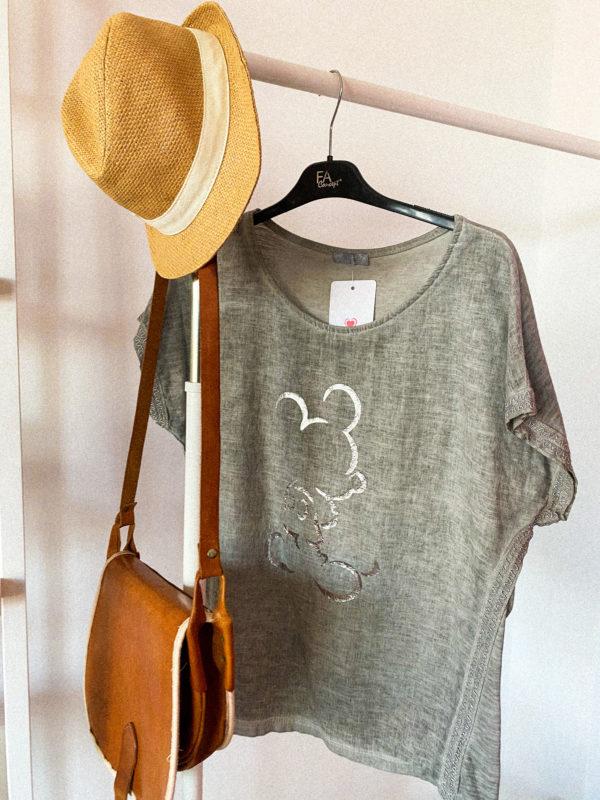 футболка из льна свободного кроя
