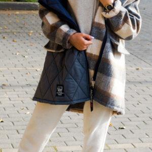 Пальто в клетку из шерсти