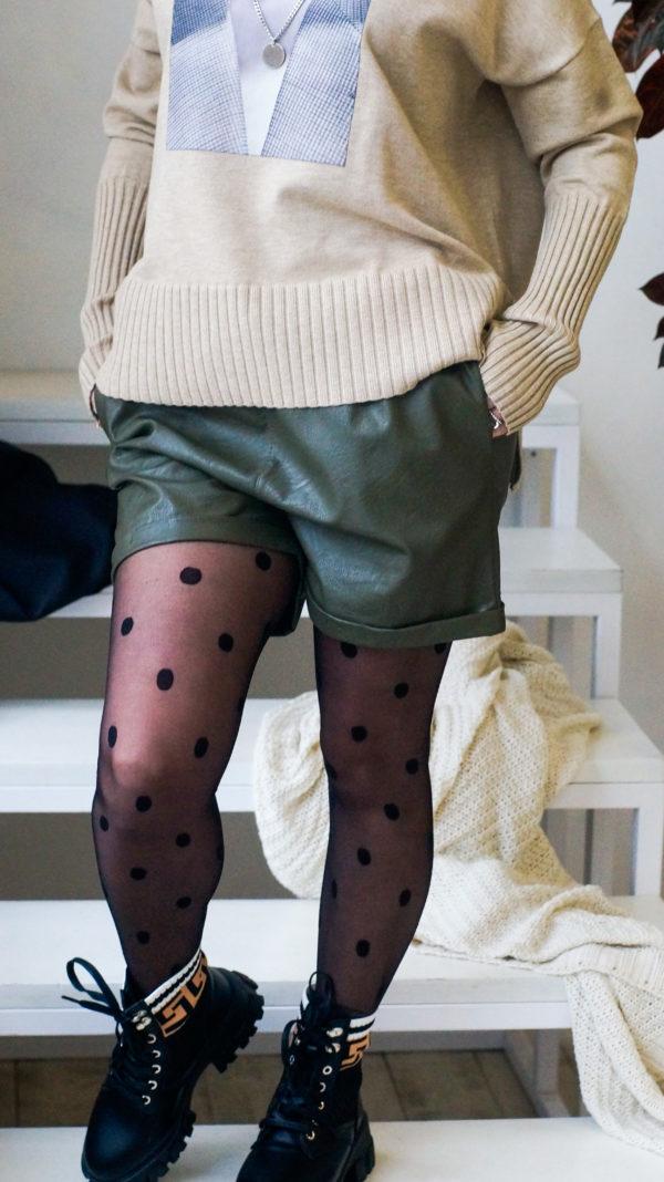 шорты из эко кожи