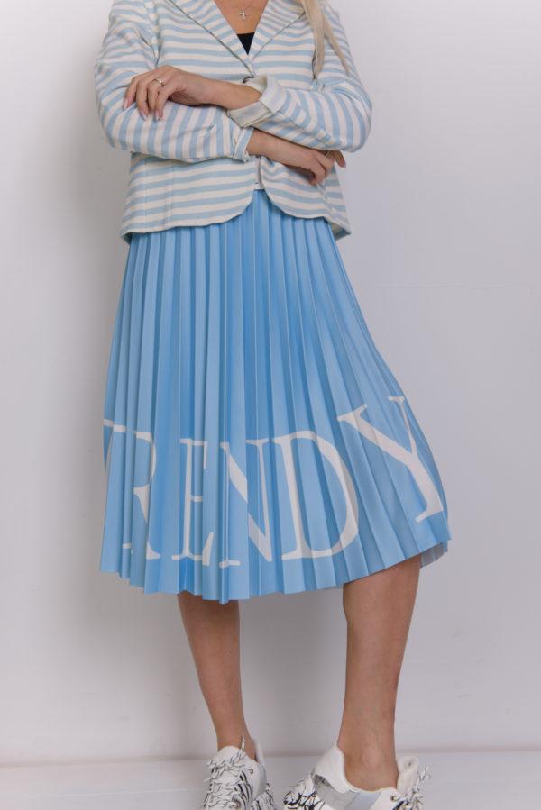 Плиссированная летняя юбка
