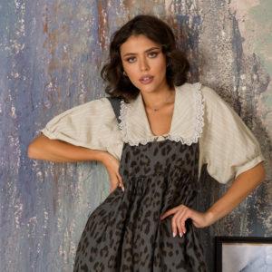 Базовая блузка с коротким рукавом