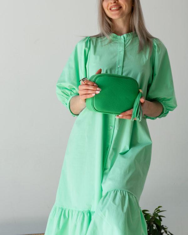 Платье миди из хлопка на пуговицах