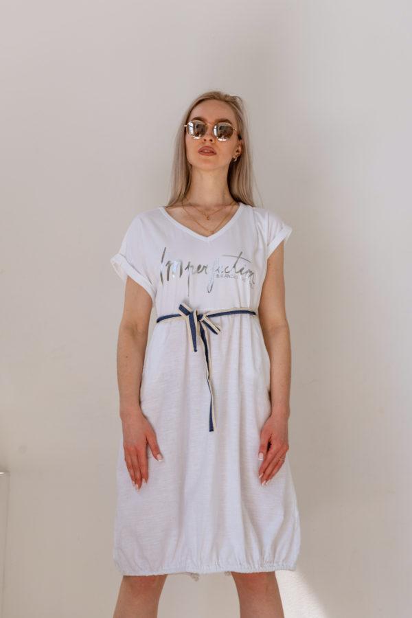 летнее платье с поясом