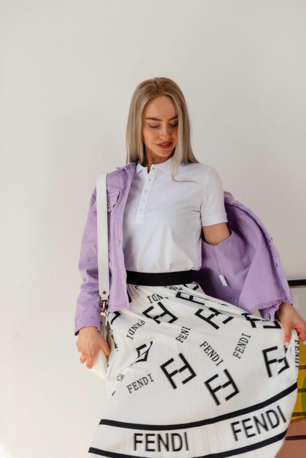 Летняя юбка плиссе