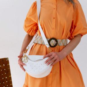 Летнее платье из хлопка на пуговицах