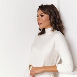 Белое Итальянское Трикотажное Платье