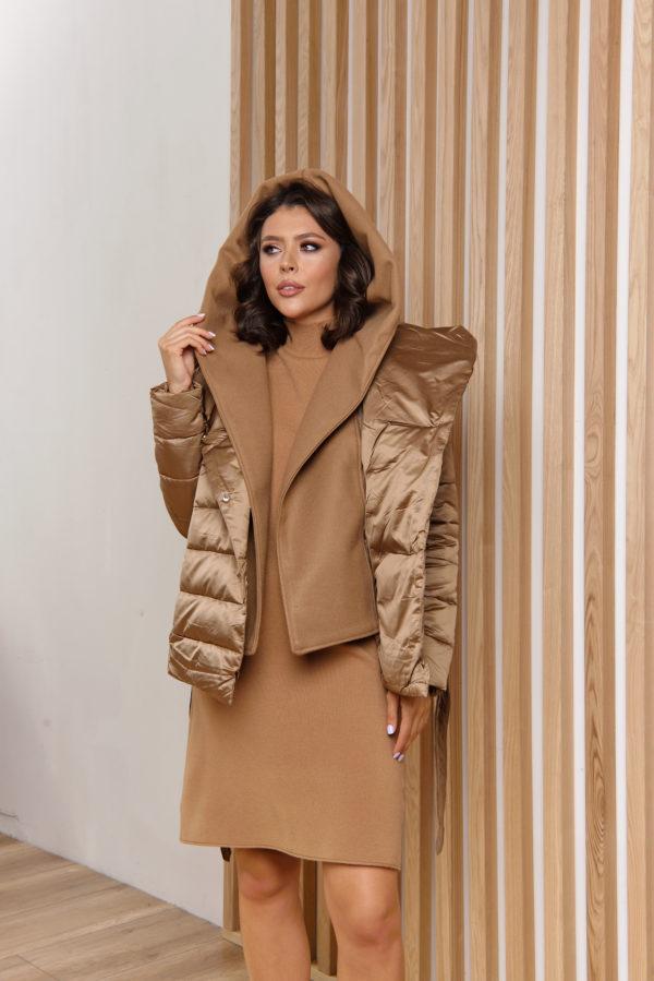 Приталенная Итальянская куртка на пуху